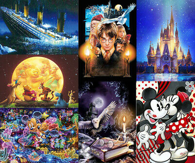Cartoon Full Drilled 5D Diamond Painting Embroidery Cross Stitch Art DIY Kits UK