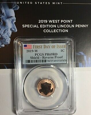 2019-W PCGS PR69 LINCOLN CENT REVERSE PROOF FIRST DAY ISSUE 2nd W PR 69 PRESALE