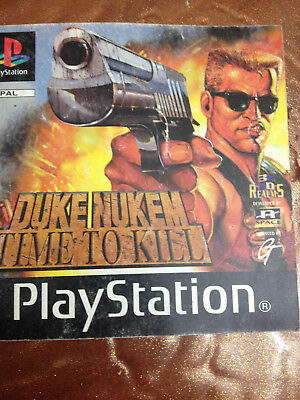 DUKE NUKEM TIME TO KILL PS 1 di istruzioni
