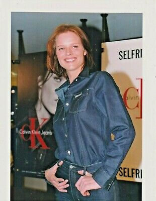 Eva HERZIGOVA JEANS Photo Presse Originale NEW CALVIN KLEIN SHOP LONDON 1999