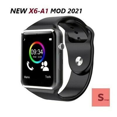 Smartwatch X6 Nero Orologio Telefono Smart Watch Bluetooth Sim Card Ios Android