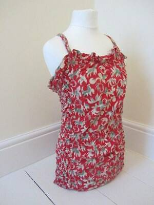 vintage swimsuit 50's red curvy girl pin up large cotton hawaiian