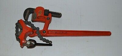 """Ridgid Super Two - 2"""" Compound Leverage Chain Pipe Wrench Vise USA!! Great Shape"""