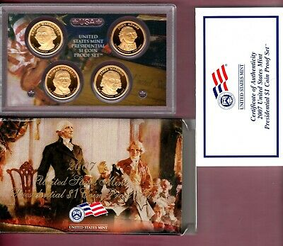 2007-S United States Mint Presidential $1 Coin Proof Set..a Nice Set
