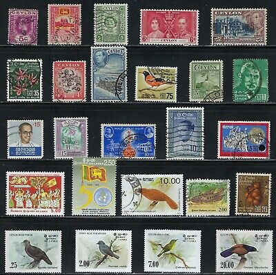 Ceylon/Sri Lanka - Nice Collection of Stamps...............R 19 A 24