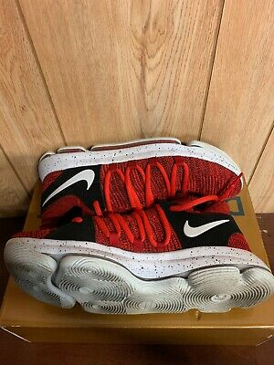 Nike Zoom KD Basketball Shoes Red Kevin Durant 897815-600 Mens Size 10