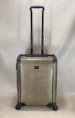 Used TUMI Tegra-Lite Continental Carry-On Spinner Suitcase 28821FOS Fossil