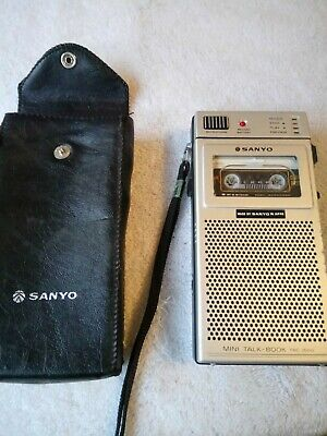 Vintage Sanyo Trc-3500 Dictaphone Mini Cassette Tape Recorder