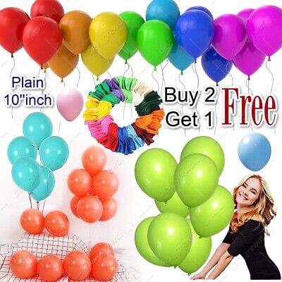 20 X  PLAIN LATEX BALOONS BALLONS Quality helium BALLOONS Party Birthday Wedding