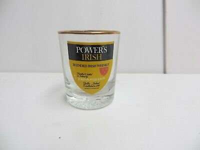 NEW Powers Irish Blended Whiskey Shot Glass - Liquor Collectable