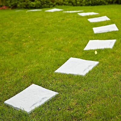 Grey Plastic Patio Paving Slabs Outdoor Garden Tile Stone Effect Path Lawn