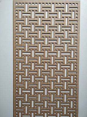 Radiator Cabinet Decorative Screening Perforated 3mm & 6mm thick MDF laser cutAL