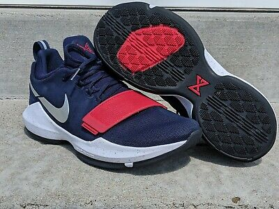 low priced 6dcb3 3c889 Nike PG 1 USA Basketball Shoes Men s Sz 10 Red White Blue 878627-900 Paul