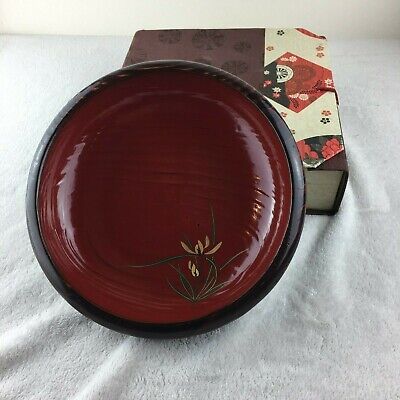 Vintage Japanese Lacquer Bowl in Box