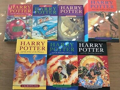 Harry Potter Book Bundle Complete Books 1-7 Incl. 4 Hardbacks 5 first editions