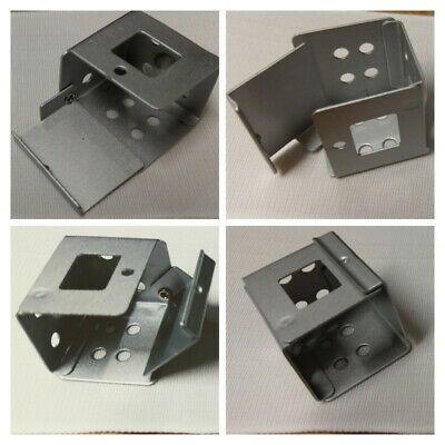4x 25mm VENETIAN BLINDS BOX BRACKET - METAL - 25MM HEADRAIL - TOP & FACE