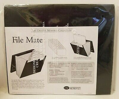 Creative Memories FILE MATE with 12 tabs, 13 divided sections NEW SEALED