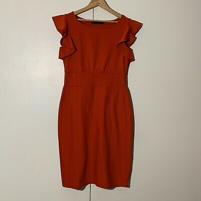 The Limited Women's Small S Crew Neck Dress Red
