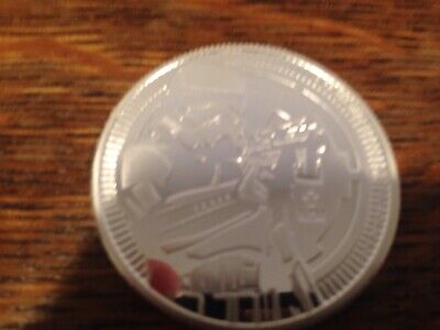 2018 New Zealand Niue $2 Star Wars Stormtrooper -One Oz 9999 Fine Silver