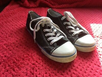 Boys, Girls, Ladies Blue Denim lace up canvas shoes by George size 5