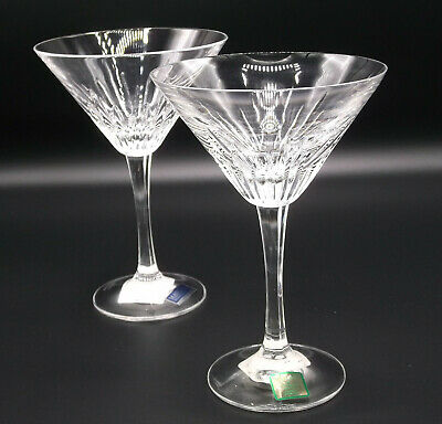 WATERFORD Marquis Martini Glasses BARCELONA Set of 2 NEW liquor wine glass