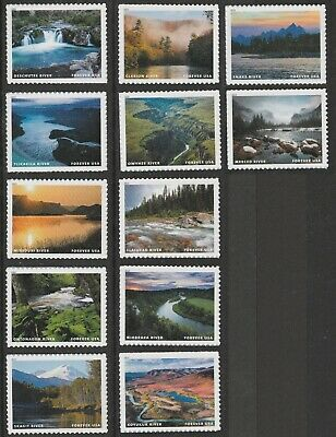 US 5381a-5381l Wild and Scenic Rivers forever set (12 stamps) MNH 2019
