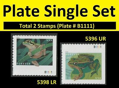 US 5396 5398 Frogs forever plate single set (2 stamps) MNH 2019
