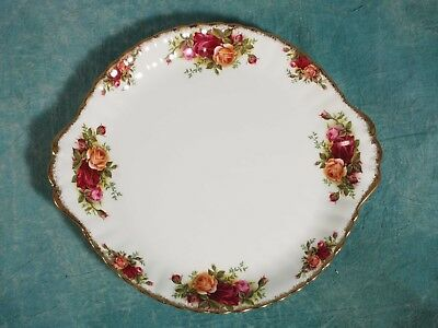 LARGE Royal Albert Old Country Roses Cake Serving tray Platter FIRST EDITION