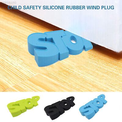 75F2 Doorstops Floor Stop Home Security Protector Durable Door Clip