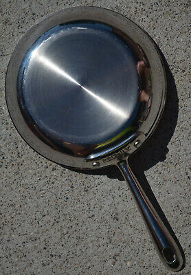 "All-Clad 7.5"" Stainless Steel Skillet Fry Pan Saute NO Nonstick MINTY used"