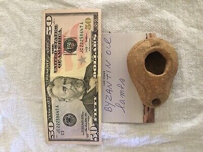 Ancient Byzantine Terracotta Oil Lamp