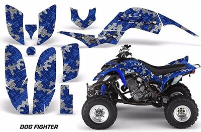 ATV Decal Graphic Kit Quad Sticker Wrap For Yamaha Raptor 660 2001-2005 DOG BLUE
