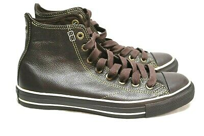 a77472251579 Converse Chuck Taylor All Star Brown Leather Hi-Top Shoes 1J857 Sz 8M 10W