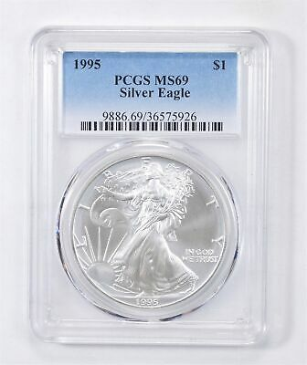 1995 American Silver Eagle MS-69 1 Troy Oz PCGS Graded *574