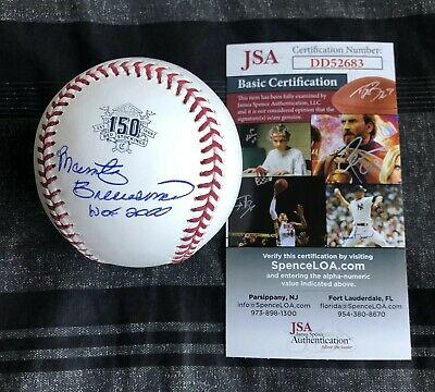 Marty Brennaman Signed Reds 150th Anniversary Baseball Autographed Auto JSA COA!