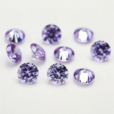 100pcs 0.8~20mm Lanvander cz stone 5A Round Brilliant cut loose Cubic Zirconia