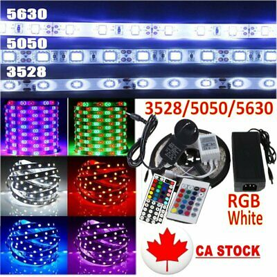 5M-50M 5050 5630 3528 SMD RGB LED Strip Lights Flexible Tape RGB/White DC 12V
