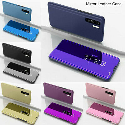 For Huawei P30 P20 Pro Honor 20 Lite Luxury Mirror Leather Flip Stand Cover Case