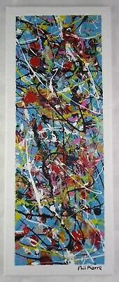 Phil Pierre - BUBBLE GUM 452 - original abstract art acrylic painting on canvas