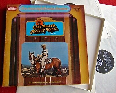 Gene Autry's Melody Ranch Radio Show ~ 4 Lp Boxed Record Set ~ Excellent!