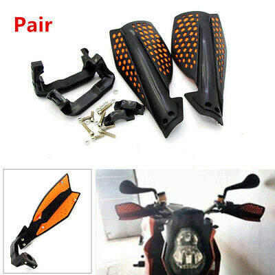 "2PCS Motorcycle ATV Hand Guard 22 mm 7/8"" Handlebar Wind Deflector Protector Kit"