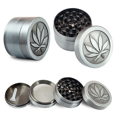 4 Layers Zinc Alloy Tobacco Crusher Hand Leaf Smoke Herb Grinder with Scraper So