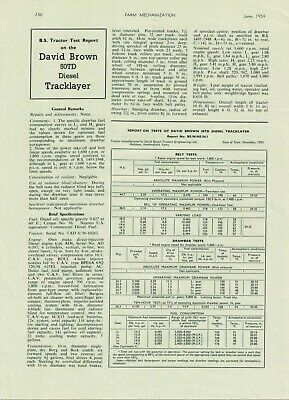 Farm Mechanisation Article David Brown 50TD Tracklayer BS Report 1954 6374F