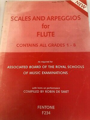 Scales and Arpeggios for Flute Grades 1-8 ABRSM Fentone F234 1991 PAPERBACK