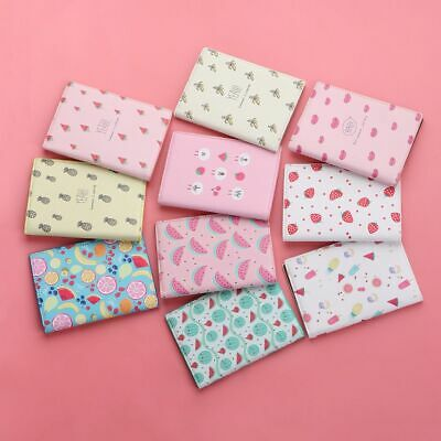 Various Fruit Pouch Protect Case ID Card Holders PU Leather Passport Cover Sets