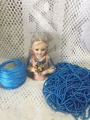 """Half Doll """"Hollie"""" With Cotton,beads And Free Pattern"""