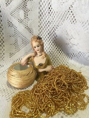 """Half Doll""""Emily"""" With Cotton,beads And Free Pattern"""