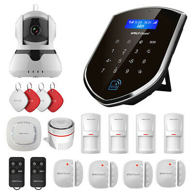 Wolf-Guard WIFI GSM App Control IP Camera Standard Kit for Home Security System