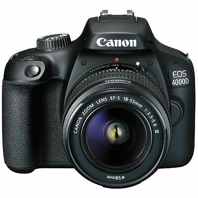 CANON EOS 4000D Digital SLR Camera + EF-S 18-55mm III Lens Kit Black SALE UK