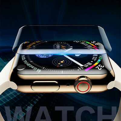 Screen Protector For iWatch Series 38/42/40/44MM Full Coverage UV Tempered Glass